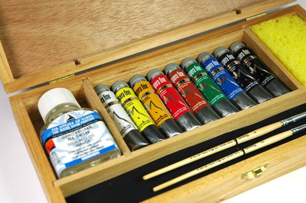 cassetta in legno colori a tempera maimeri tempera fine, prezzi colori a tempera fine maimeri