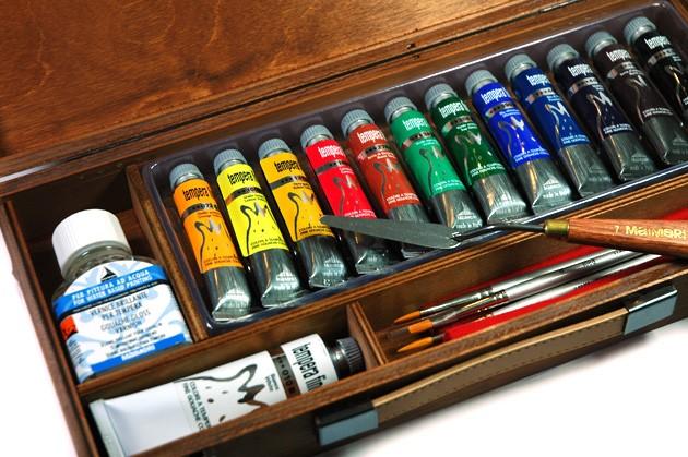 Cassetta colori a TEMPERA Maimeri Tempera Fine, prezzi cassetta colori a tempera Maimeri tempera prezzi