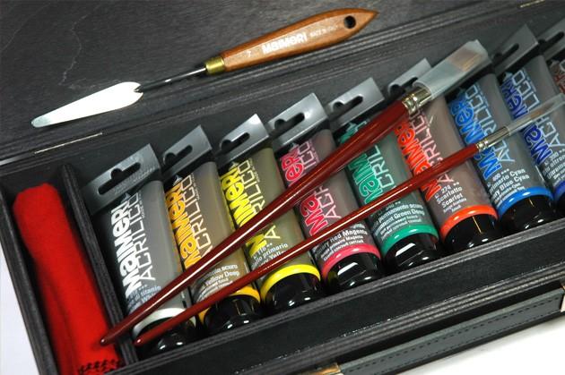 Cassetta colori acrilici maimeri acrilico, prezzi confezione colori acrilici maimeri acrilico